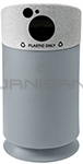 "Commercial Zone 7532420399 Galaxy Collection Recycling Receptacle with ""Plastic Only"" Lid - 35 Gallon Capacity - 21 1/2"" Dia. x 42 1/2"" H - Gray Base with Comet Gray Top"