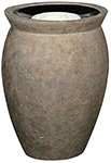 "Rubbermaid / United Receptacle FGFGK1924SUBISQ Milan Collection Pescara Fiberglass Sand-Top Ash Urn - 18 1/2"" Dia. x 24"" H - Bisque in color"
