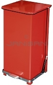 "Imprezza QSO24RD Quiet Close Step On Trash Can - 24 Gallon Capacity - 17"" D x 17"" W x 30 5/8"" H - Red in Color"