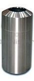 "Imprezza RT15SS Raised Open Top Waste Can - 15 Gallon Capacity - 15 3/4"" Dia. x 31 5/8"" H - Stainless Steel"