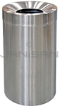 "Imprezza SSFT32PL Funnel Top Trash Can - 32 Gallon Capacity - 20"" Dia. x 33 1/4"" H - Stainless Steel"