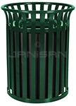Ex-Cell Kaiser SC-2633/HGR Streetscape Series Classic Open Top Trash Container - 26� Dia. x 33� H - 35.5 Gallon Capacity - Gloss Hunter Green in color