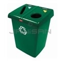 Rubbermaid FG256T06DGRN Two Stream Glutton Recycling Station - 46 Gallon Capacity - Dark Green in Color