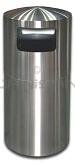 "Imprezza DTSE30SS Dome Top Side Entry Trash Can - 30 Gallon Capacity - 20"" Dia. x 40 1/2"" H - Stainless Steel"