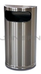 "Imprezza HR9SSPL Side Entry Half Round Waste Can - 9 Gallon Capacity - 18"" W x 32"" H x 9"" D - Stainless Steel Body with Chrome Base"
