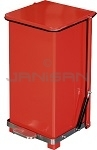"Imprezza QSO12RD Quiet Close Step On Trash Can - 12 Gallon Capacity - 12 1/4"" D x 14"" W x 23 1/2"" H - Red in Color"