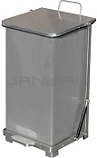 "Imprezza QSO12SS Quiet Close Step On Trash Can - 12 Gallon Capacity - 12 1/4"" D x 14"" W x 23 1/2"" H - Stainless Steel in Color"