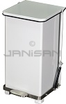 "Imprezza QSO12WH Quiet Close Step On Trash Can - 12 Gallon Capacity - 12 1/4"" D x 14"" W x 23 1/2"" H - White in Color"