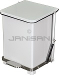 "Imprezza QSO7WH Quiet Close Step On Trash Can - 7 Gallon Capacity - 12 1/4"" D x 14"" W x 17 1/2"" H - White in Color"